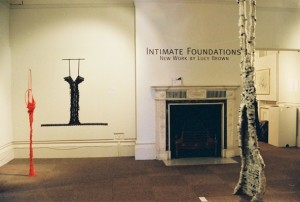 Intimate Foundations by Lucy Brown Hove Museum 2001